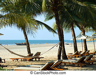 beach in Goa - Photo perfectly beautiful beach Palolem in...