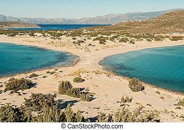 The famous Simos beach in Elafonisos island, Greece