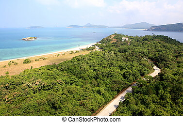 Beach In High Angle View, Amazing Seascape Of Thailand...