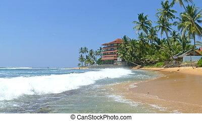 beach in Hikkaduwa - Sri Lanka