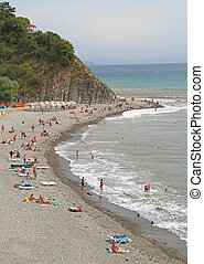 beach in khutor Betta, Krasnodar krai, the Black sea