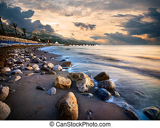 Beach in Mediterranean sea