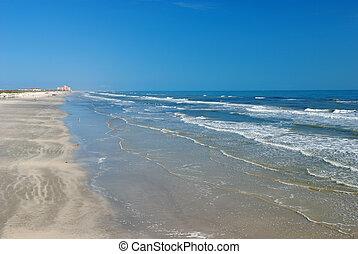 Beach in Padre Island, south Texas