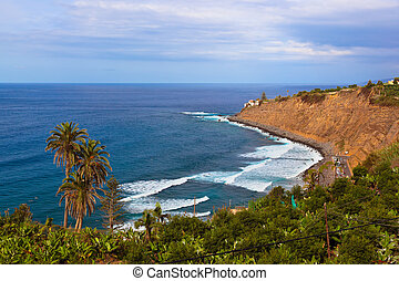 Beach in Puerto de la Cruz - Tenerife island (Canary)