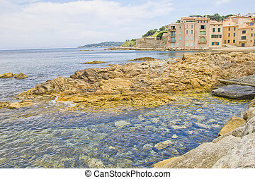 Beach in Saint-Tropez, south of France