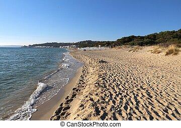 Beach in Salento - Salento beach in Italy. Lido Rivabella in...