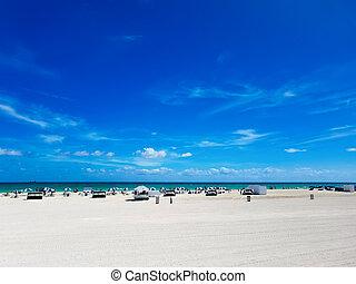 South Beach - Beach in South Beach, Florida, a city near...