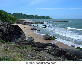 Beach in South of Brazil
