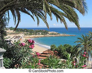 beach in Spain resort