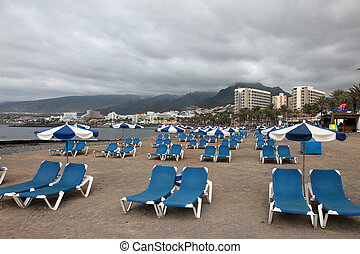 beach in Tenerife south at Canary Islands