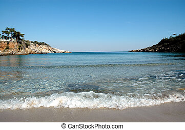 Beach in Thassos island, Greece