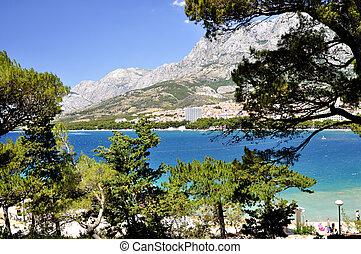 Makarska - Beach in the Croatia, Makarska