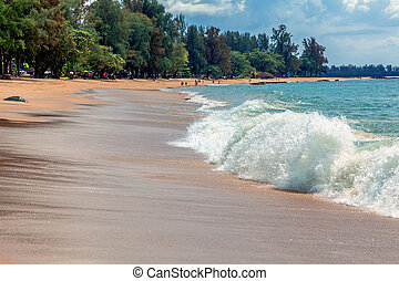 Beach in the Thai province of Khao Lak