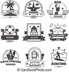 Beach Label Set