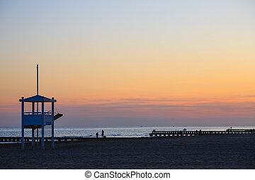 Beach landscape at dawn