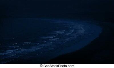 Beach Landscape At Night