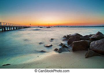 Beach Landscape At Sunset