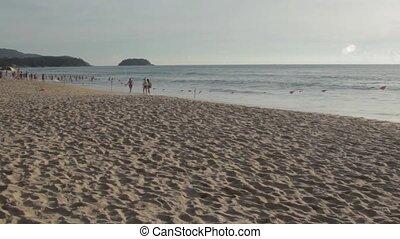 Beach landscape in Phuket - Karon Beach in Phuket and its...