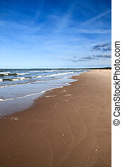 Beach landscape - Landscape of the beach with blue sky....
