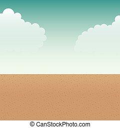 beach landscape summer icon