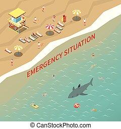Beach Lifeguards Illustration