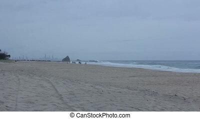 Beach line of Gold Coast, Australia.