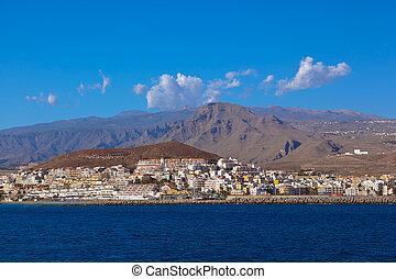 Beach Los Cristianos in Tenerife island - Canary