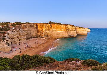 Beach near Albufeira - Algarve Portugal - Beach near ...