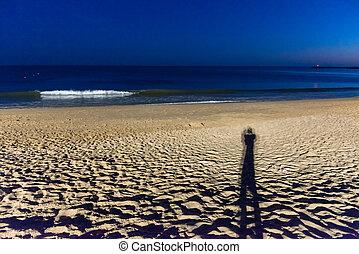 Beach of Albufeira City in Algarve, Portugal