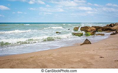 Beach of Black sea in Turkey