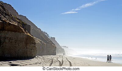 Beach of Carlsbad California.