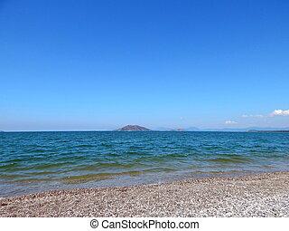 Beach of the Aegean Sea in Fethiye, Turkey