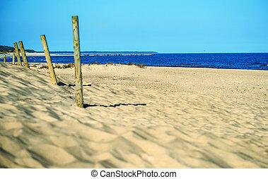 beach of the Baltic Sea in Poland