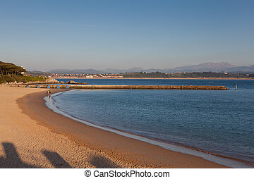 Beach of the Magdalena, Santander, Cantabria, Spain