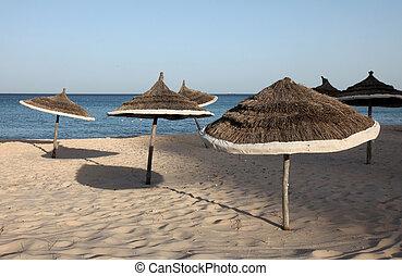 Beach on a sunny day, Sousse, Tunisia