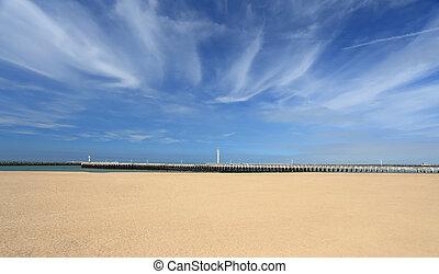 Beach on a sunny summer day