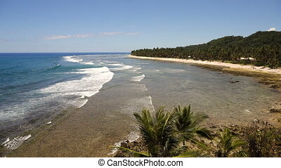 Beach on a tropical island. Philippines,Siargao. - Beautiful...