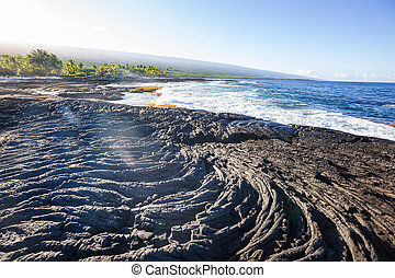 Beach on Big Island, Hawaii