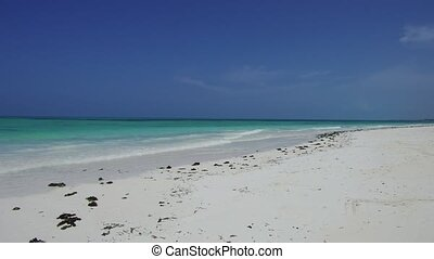 beach on indian ocean shore in zanzibar, tanzania - travel,...