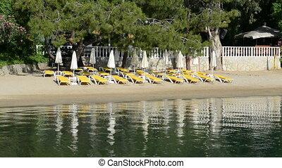 Beach on Mediterranean resort