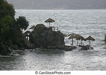 Beach on rocks
