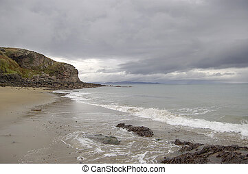 Beach on Rum - Beach on the island of Rum, Scotland