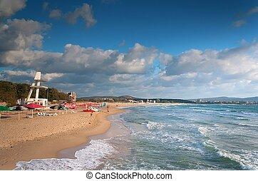 beach on sea