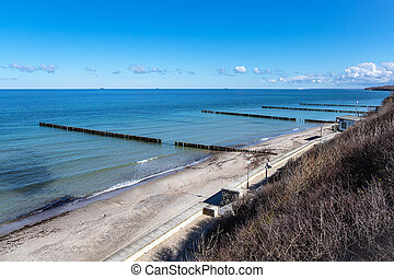 Beach on the Baltic Sea coast in Nienhagen, Germany