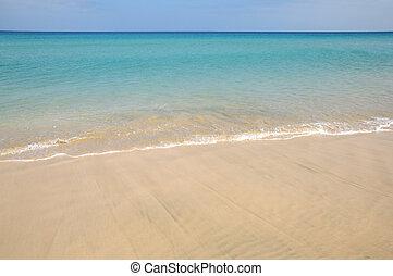 Beach on the Canary Island Fuerteventura, Spain