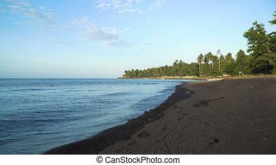 Beach on tropical island.