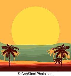 beach paradise scene