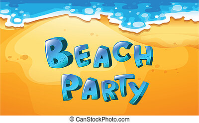 Beach party - Illustration of a background of beach party