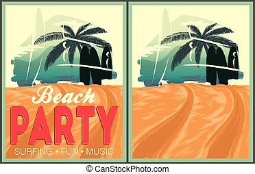 Beach party poster collection