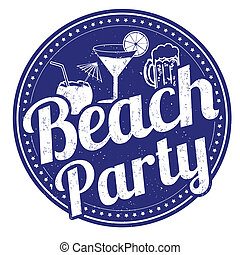 Beach party stamp